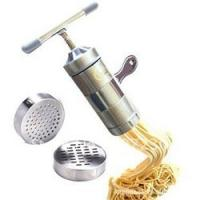 Buy cheap Convinient double cutter dough roller crank handle Stainless Steel Manual Streamline Pasta Machines from wholesalers