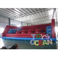 China Big Baller Inflatable Interactive Games Jumping Obstacle 0.55 PVC Wipe Out wholesale