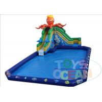 China Lead Free Mobile Giant Blue Inflatable Water Pool With Octopus Slide Ocean wholesale