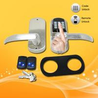 China Easy Operated Electronic Keypad Door Lock With Fingerprint / Password Open wholesale