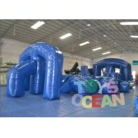 China Popular Sport Blue Big Inflatable Paintball Obstacle For Laser Tag 0.9MM PVC CE wholesale