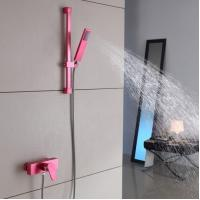 China Portable Hand Hold Shower Curtain Sets High Quality Stainless Steel Sanitary Products wholesale