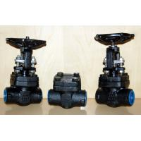 China Forged Steel Globe Valve Carbon Steel / Stainless Steel , Flexible Wedge Bolted Bonnet wholesale