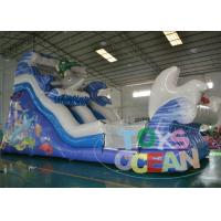 China Ocean Inflatable Sea Slide Fishes With Ball / Party Amusement Inflatable Pool Slide wholesale