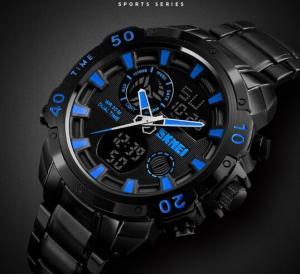China Wholesale Retail OEM Skmei Zinc Alloy Strap 3 ATM  Dual Time Chronograph Alarm Alarm Men Casual Sport Wrist Watches 1306 wholesale