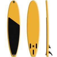China 15PSI Pressure Inflatable Carbon Fiber Surfboard Yellow Color Custom Color on sale