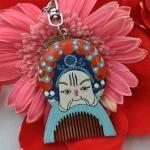 China Key Ring Gift Wooden Comb on sale