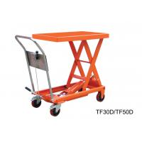 China Vehicular Pneumatic Motorcycle Lift Table , Stationary Scissor Hydraulic Scissor Lift Cart wholesale