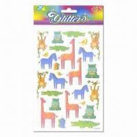 China Glitter stickers, vivid and eye-catching designs wholesale