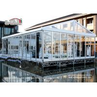 China 100 People Luxury Transparent Aluminium Tent  with Air Conditioners for Weddings wholesale