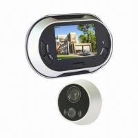 China 3.5-inch LCD Screen Video Door Viewer with Doorbell and Automatically Take Photo Function wholesale