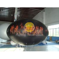 China Waterproof and Fireproof Black 0.18mm PVC Oval Balloon with Total Digital Printing on sale