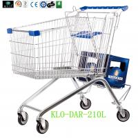 Large Zinc Plated Kids Metal Shopping Carts With Baby Seat European Style
