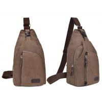 Buy cheap Men Single Strap Backpack For Outdoor Sports , Durable Brown Crossbody Bag from wholesalers