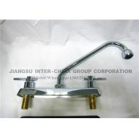 China Wall Mounted Pull Down Kitchen Sink Faucets , Polished Brass Bathroom Faucets wholesale