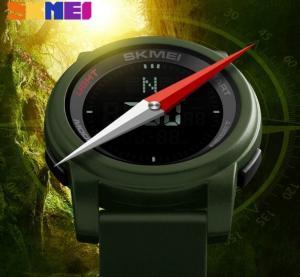 China Skmei Unique Outdoor Elite Compass Multifunction Men 48 City World Time 5ATM Sport Watches 1289 wholesale