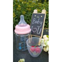 China 150ml With Teat Borosilicate Baby Glass Water Bottle For Milk And Water wholesale
