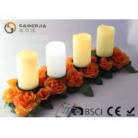 China Battery Operated Advent Candles , Flameless Candles With Remote wholesale
