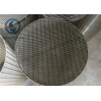 China Stainless Steel Johnson Water Filter Screen Pipe Slot Hole Shape wholesale