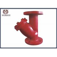 China Bule / Red Color Water Y Strainer Filter , Flanged Y Strainer DN50 ISO9001 wholesale