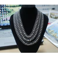 China Graceful OEM /ODM mixed metal necklaces with rhinstones (Gold , silver, black , white) wholesale