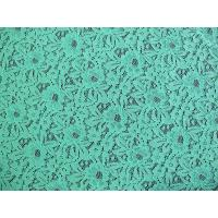 China Eco-Friendly Nylon Elastic Lace Fabric Green / Floral Lace Fabric CY-DK0016 wholesale
