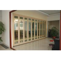 China Double Aluminium French Folding Glass Door For Patio 5mm+16A+5mm wholesale