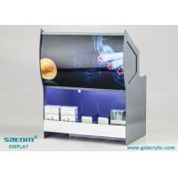 Vivid Poster Acrylic Cigarette Display Cabinet With Built In Lighting