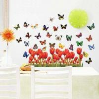 China Flying Butterfly Wall Decal with UV Offset Printing and CMYK Colors wholesale
