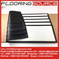 China Rubber Bar Runner nitrile rubber base polyester top white blank for Sublimation Printing wholesale