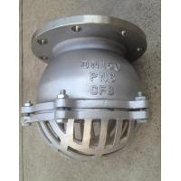 China Stainless Steel PN16 Water Flanged Foot Valve With Strainer 2 Inch wholesale