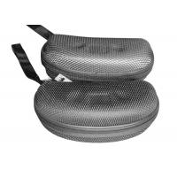 China EVA Plate Mens Sunglasses Case / Hard Cool Glasses Case With Grid Nylon Surface wholesale