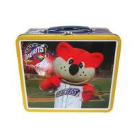 China Children Kinds Love Metal Tin Lunch Box With Handle / Lock On Top wholesale