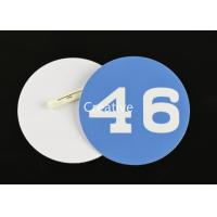 China 0.76mm Printed Pvc Plastic Name Badges With Pin Fasterner For Staff wholesale