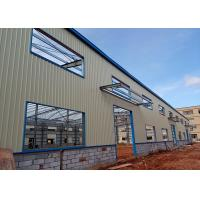 China Q235 Prefabricated Light Steel Space Frame Structure , Prefab Workshop Buildings wholesale