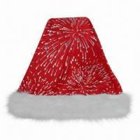 China Santa Hat in Red, Suitable for Christmas Decorations Purposes, Made of 100% Polyester wholesale