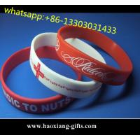 China Custom embossed/debossed/printed logo Silicone Wristband/silicone bracelet wholesale