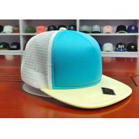 China Fashionable Mix Color Blank Custom design logo Flat Bill Plastic buckle Snapback Caps Hats wholesale