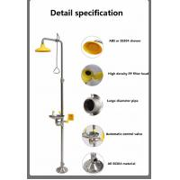 China Customize SS304 emergency shower and eyewash station factory chemical place safety protection on sale