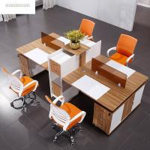 China Interior Design Office Workstation Partition Veneer Finish Standard Size on sale