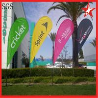 Quality Interior / Outdoor Teardrop Banners 3kg Cross Feet With 360 Degree Turning for sale