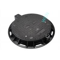 China EN124 Standard Round Cast Iron Manhole Cover For Municipal L Construction wholesale