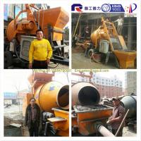 Quality 15m3/h mobile concrete mixer with pump, mini small concrete pump, top seller concrete mixer pump with senior quality for sale