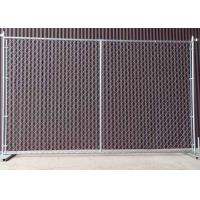 China Square / Round Temporary Chain Link Fence For Construction Sites 6' H X 10' L wholesale
