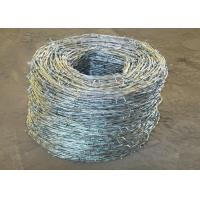 China High Zinc Coated Double Twisted Galvanized Barbed Wire For BWG16X16 14x14 12x14 wholesale