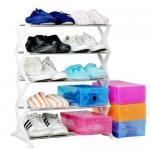 China White, Pink, Blue 5 Tier 15 Pair Shoe Storage Racks JP-SR405 wholesale