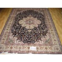 China Hand Knotted Artificial Silk Carpets on sale
