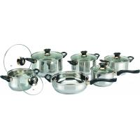 China 0.55 mm Body Thickness 12 PC Cooks Stainless Steel Cookware Sets, Cooking Pot wholesale