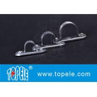Galvanized Steel Spacer Bar Saddle With Base / 20mm Diameter Conduit Clamp for sale