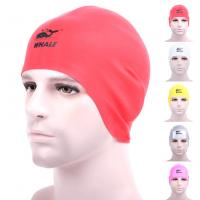 China Red Snug Fitting  Long Hair Swim Caps Cold Resistance For Girls Protect Long Hair wholesale